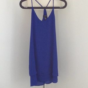 Forever 21 blue double layer blue dress size small